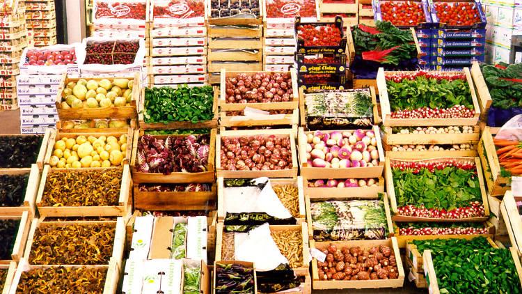 Wholesale produce at Rungis market