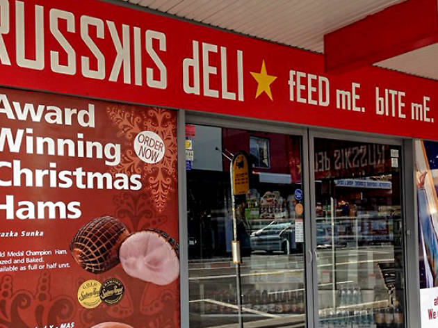 Exterior of Russkis Deli in Bondi