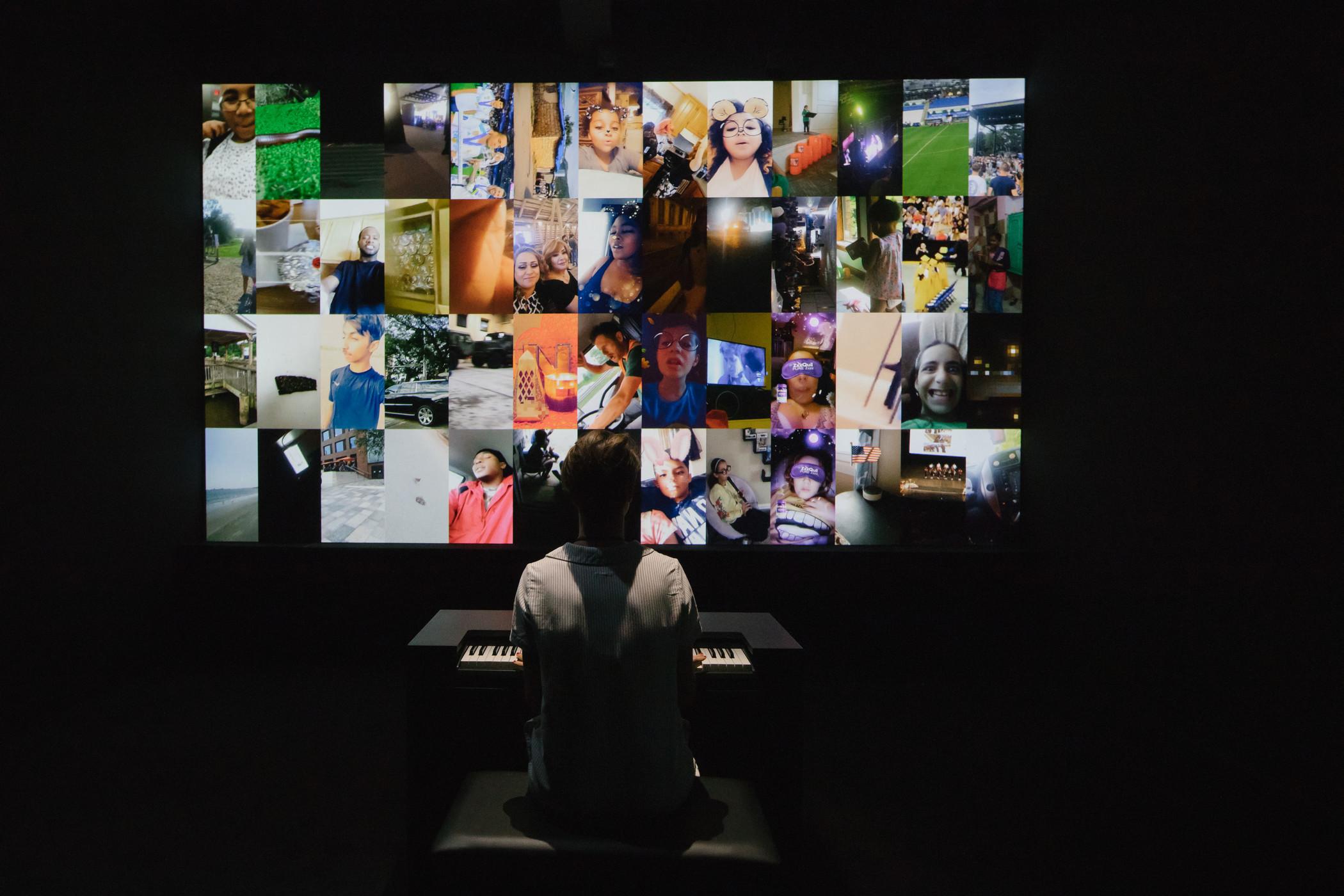 Christian Marclay, The Organ (detail), 2018, installation photograph, Christian Marclay x Snap: Sound Stories at Le Centre d'art La Malmaison, Cannes, © 2019