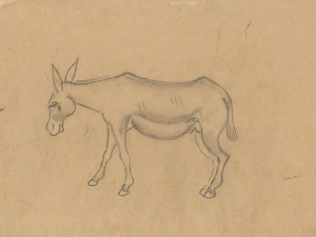 'Hort amb ase' (1918), de Joan Miró