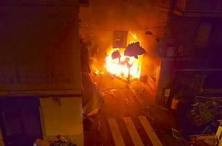 Foc al carrer Llibertat