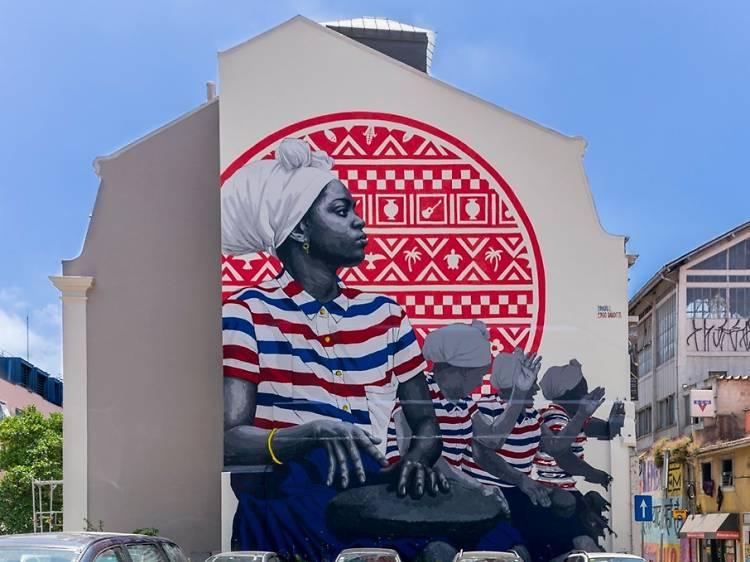 Mural de Frederico Draw e Ergo Bandits