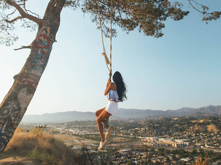 Search for the rope swing in Elysian Park