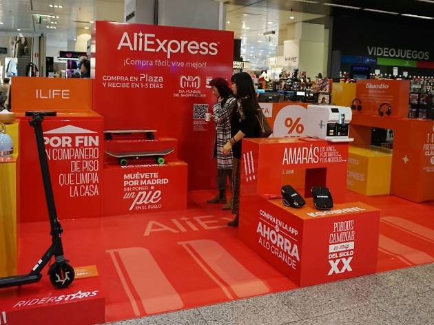 Pop up que AliExpress abrió en El Corte Inglés de Sanchinarro