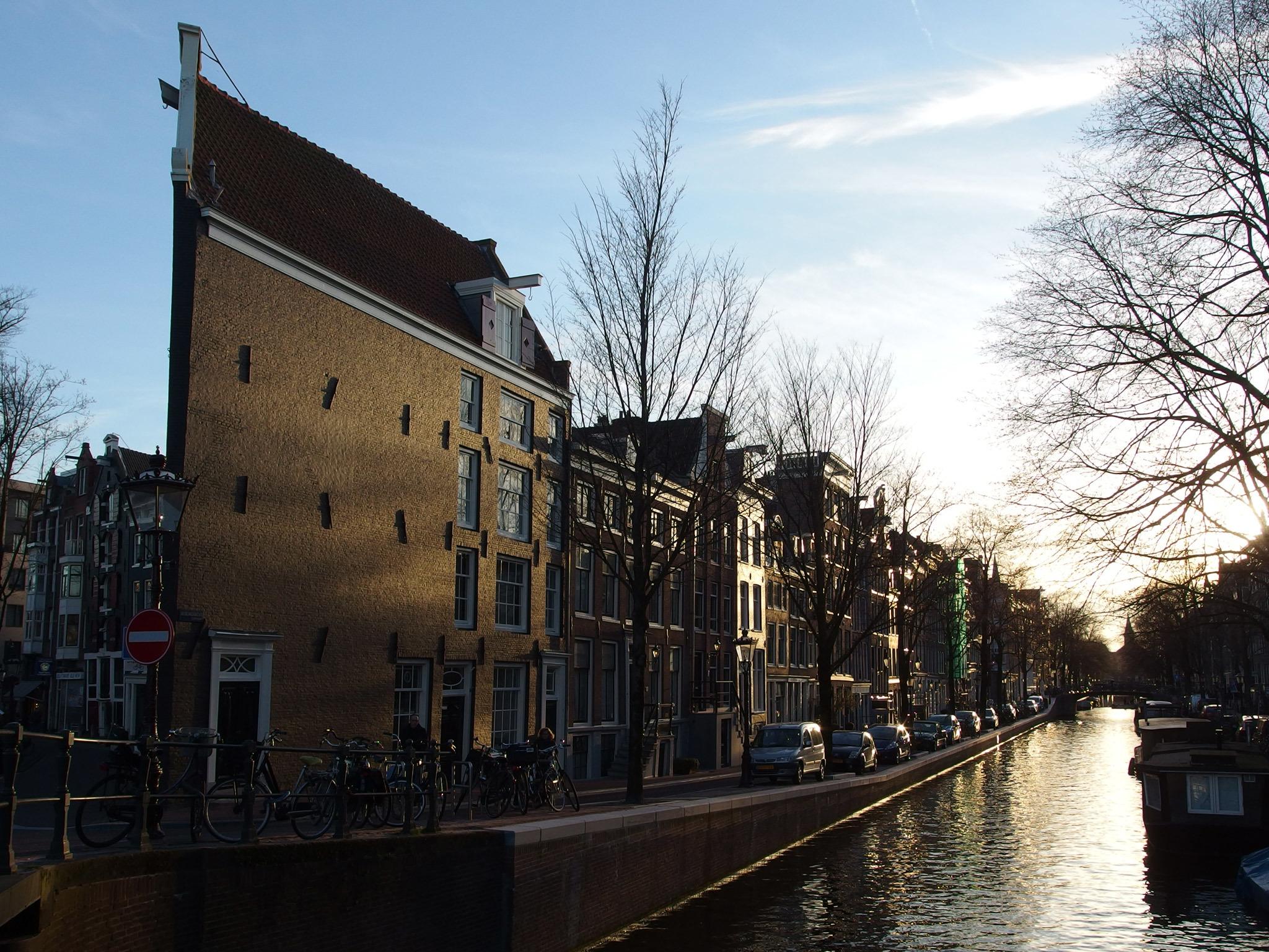 Jordaan canal houses in Amsterdam