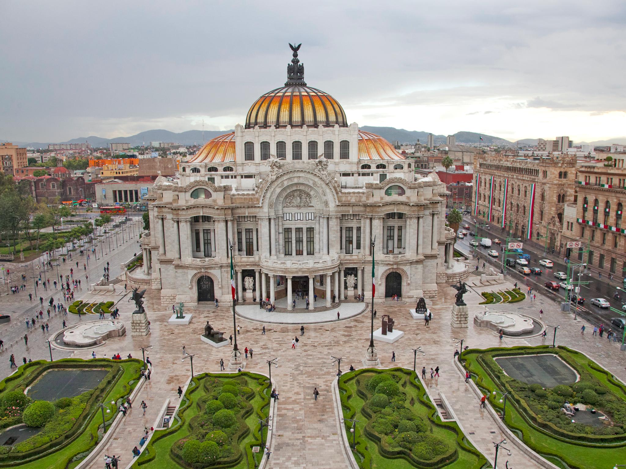El Palacio de Bellas Artes visto de arriba