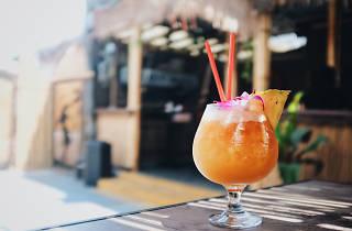 Bambo Club tiki bar in Long Beach