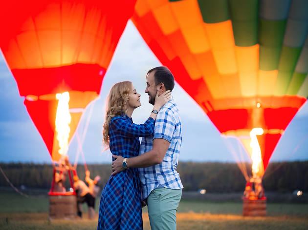 Propuesta de matrimonio a bordo de globo aerostático