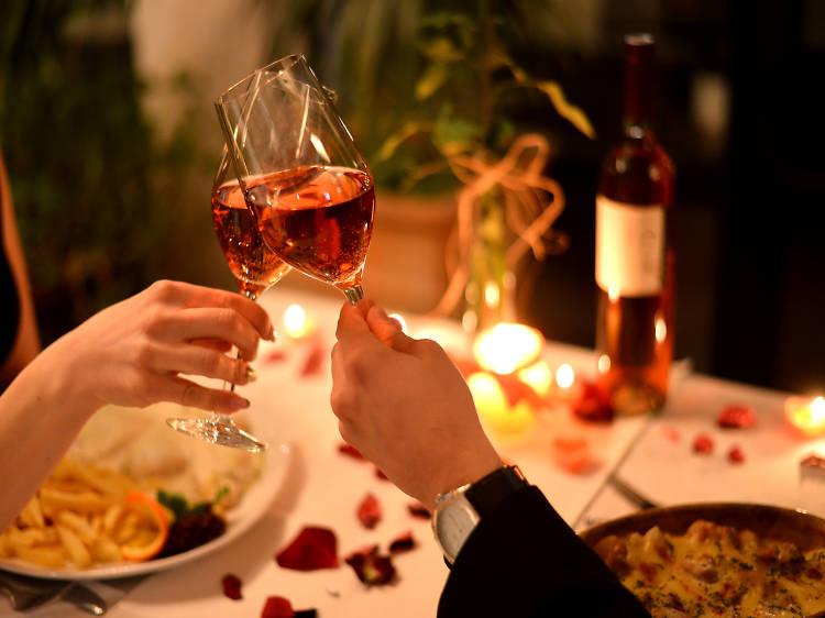 Cena romántica en Polanco