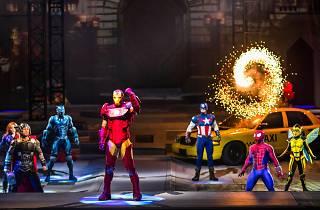 Iron Man Spider-Man Captain America Thor at Marvel Universe Live