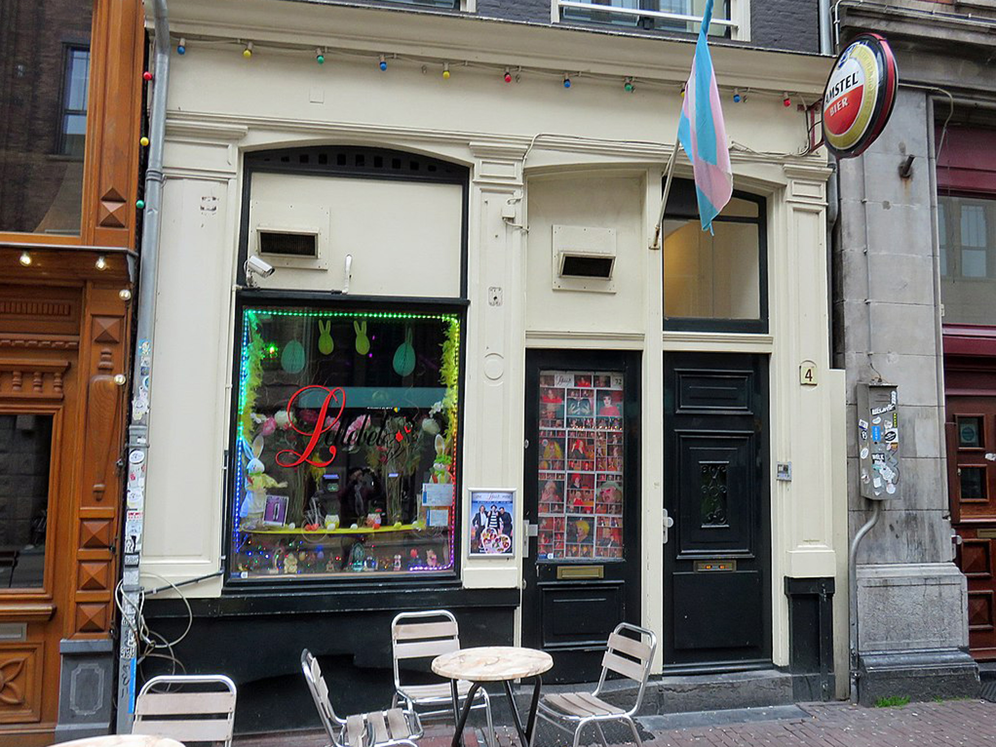 The exterior of drag club De Lellebel in Amsterdam