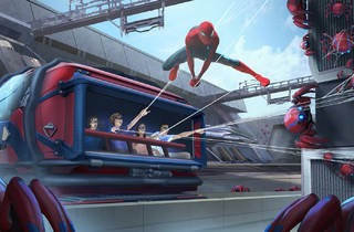 Spider-Man is going to swing over Disneyland's Avengers land, for real