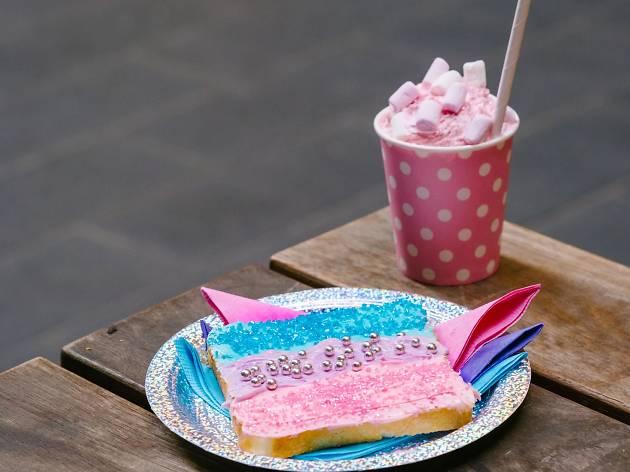 Happy Days rainbow cake
