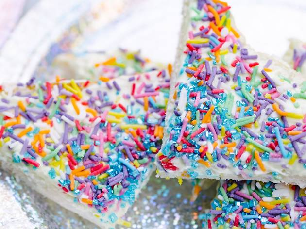 Rainbow fairy bread at Happy Days QV