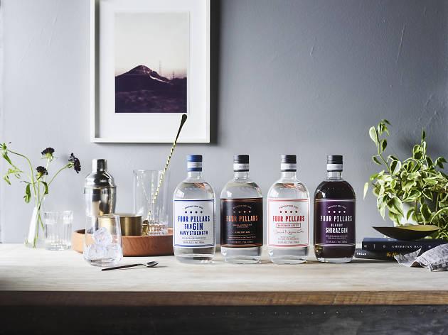 Bottles of Four Pillars Gin