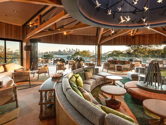 The lounge of the Wildlife Retreat at Taronga