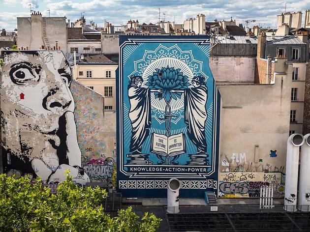 Obey signe une fresque géante à Beaubourg !