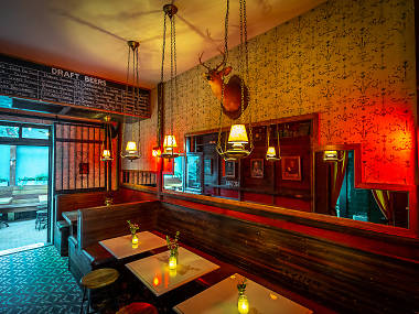 Wes Anderson's set decorator redesigns Sweet Afton bar in Astoria, Queens