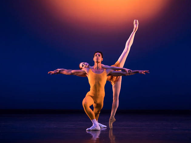 Tyrone Singleton and Jenna Roberts in 'Concerto', as staged at the Royal Ballet in 2017