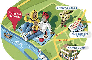 richmond riverside illustration/map