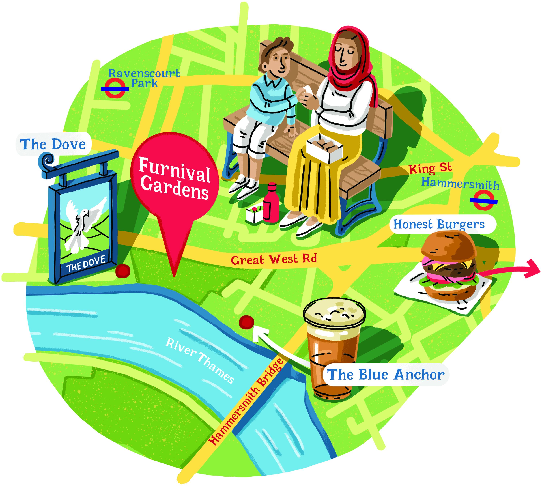 furnival gardens map