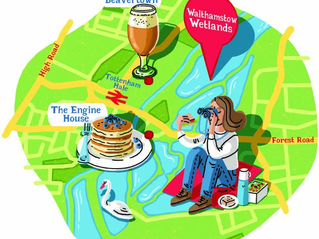 walthamstow wetlands map