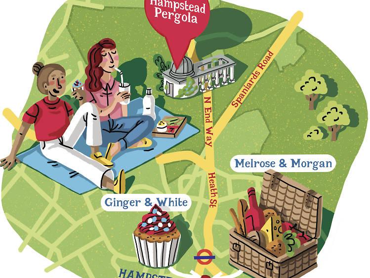 Instead of Parliament Hill try…  Hampstead Heath Pergola