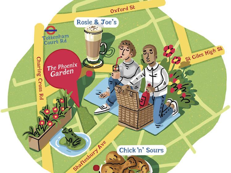 Instead of Soho Square try…  Phoenix Garden