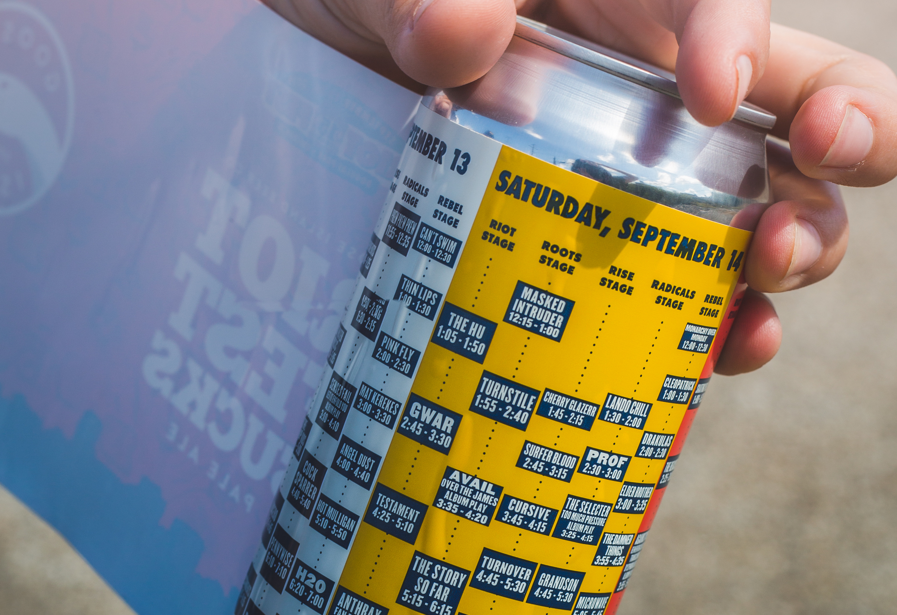 The Riot Fest 2019 schedule is here, and it's also on a beer can