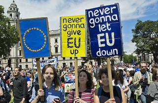 Anti-Brexit, pro-EU protest in London