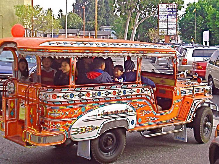Take a jeepney tour of the neighborhood