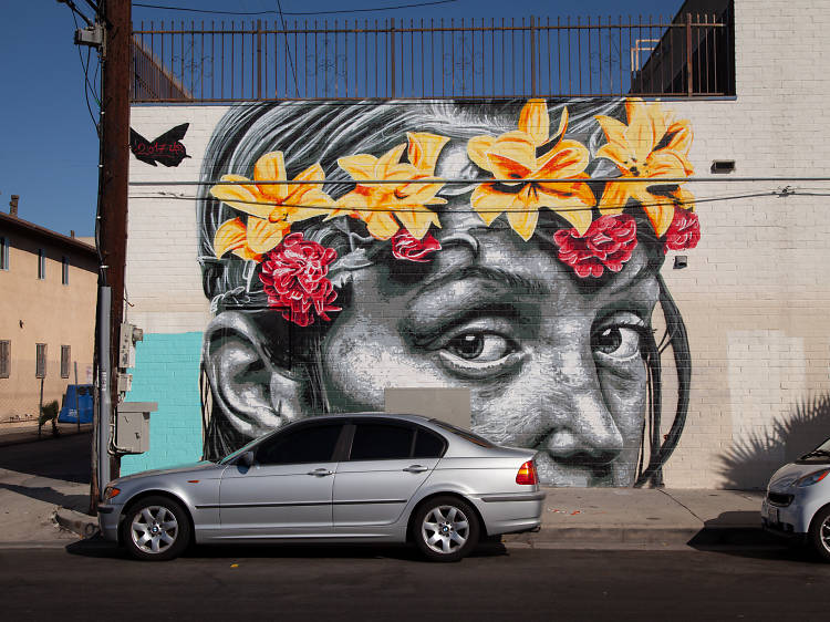 Stroll through an alleyway filled with street art