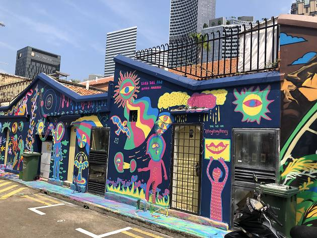 Haji Lane is home to Singapore's first outdoor gallery