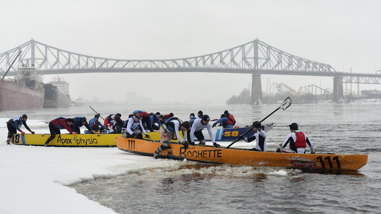Défi Canot à glace Bota Bota Montréal / Ice Canoe Challenge