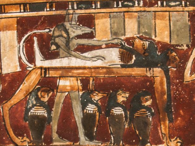 Máscaras y cartonajes de momias egipcias y su restauración