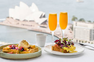 Breakfasts and Mimosas overlooking Sydney Harbour from Altitude at the Shangri-La Hotel.