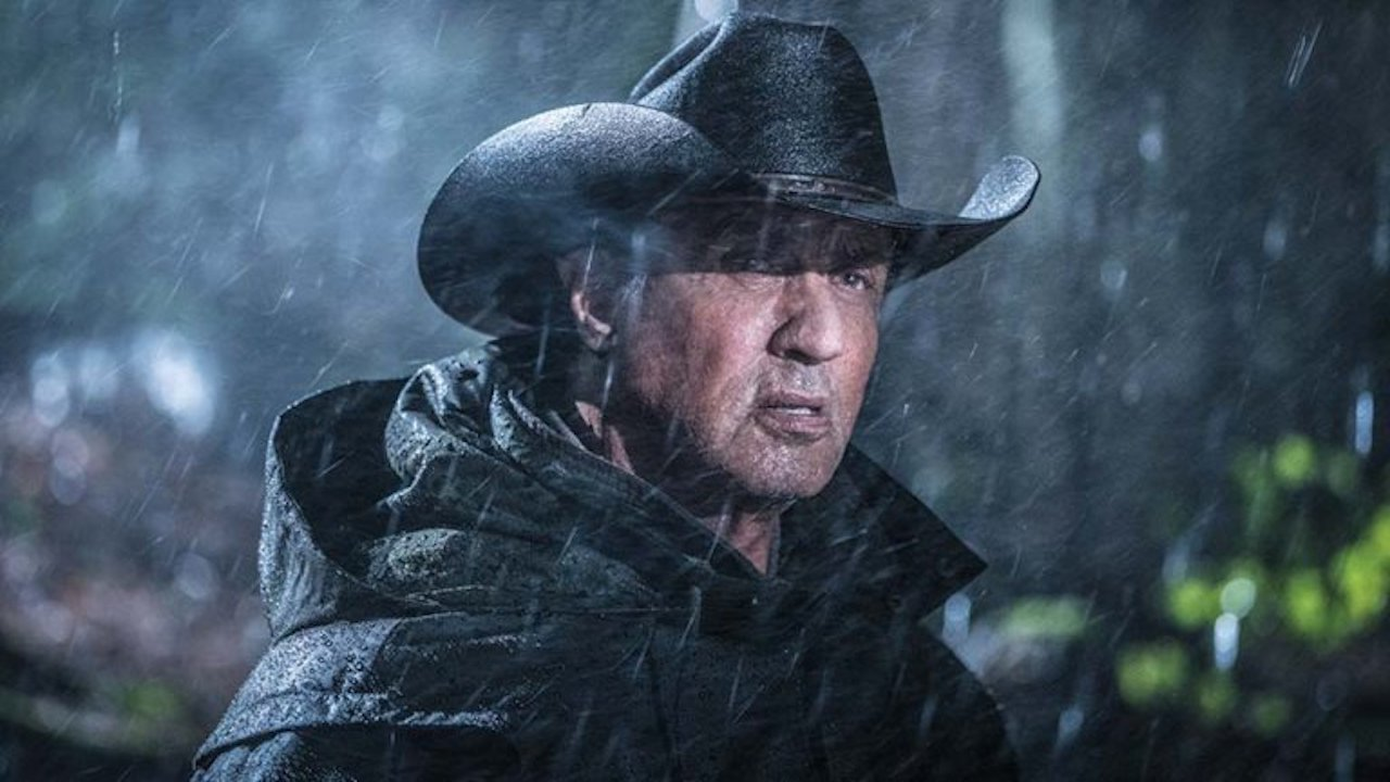 Sylvester Stallone wearing a hat in Rambo: Last Blood