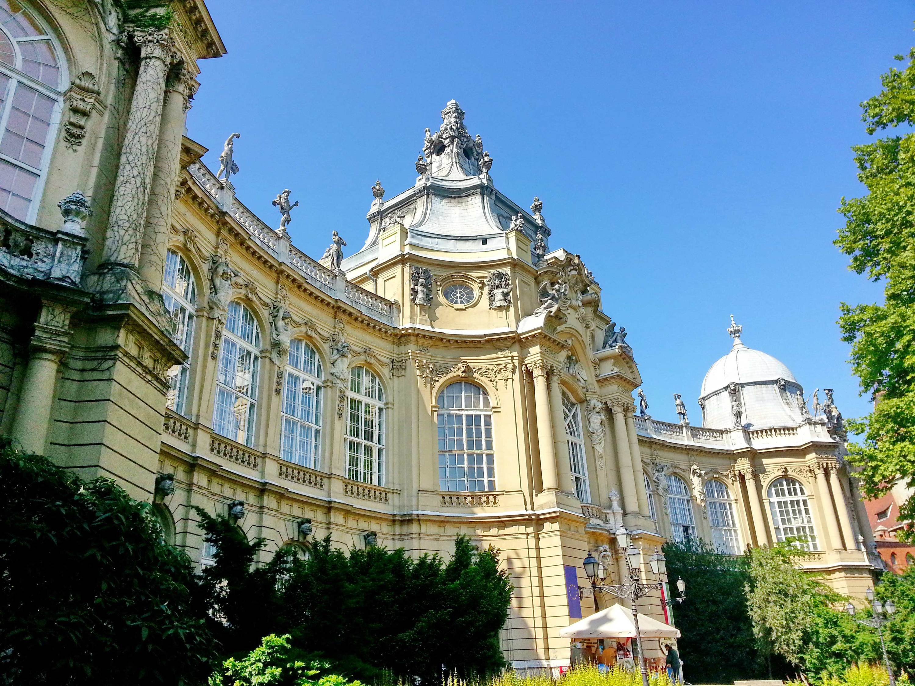 The exterior of the Museum of Agriculture in Budapest