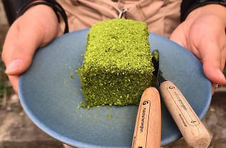 Matcha Lamington from Cafe Oratnek