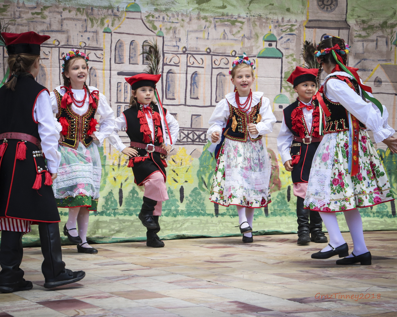 Children dancing at Polish Festival at Federation Square