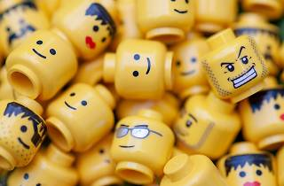 Lots of Lego heads together