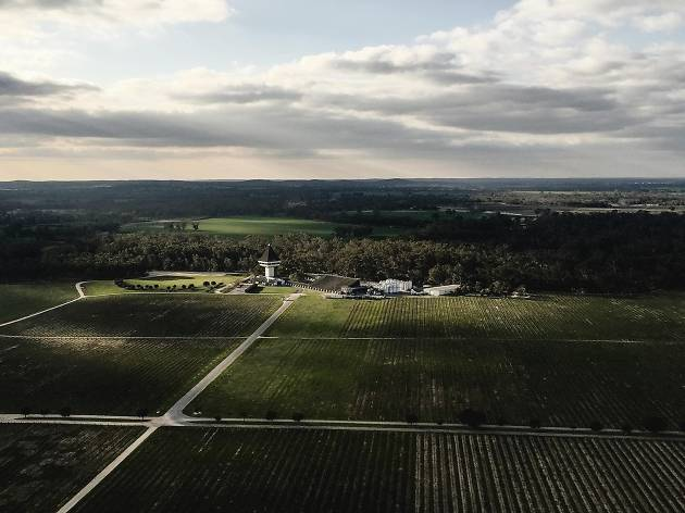 Aerial shot over Mitchelton Winery