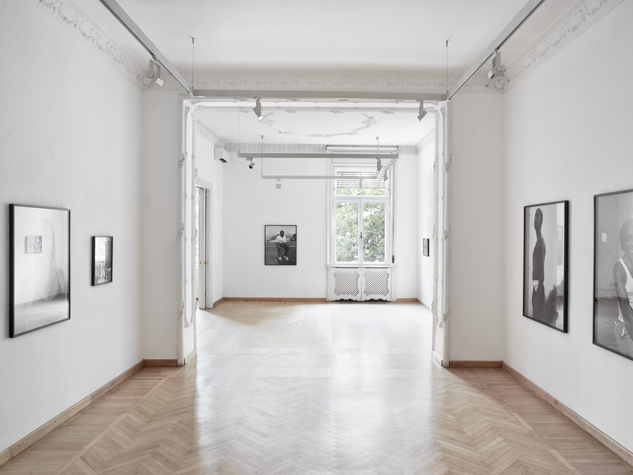 The bright interior of Mai Manó House of Photography in Budapest