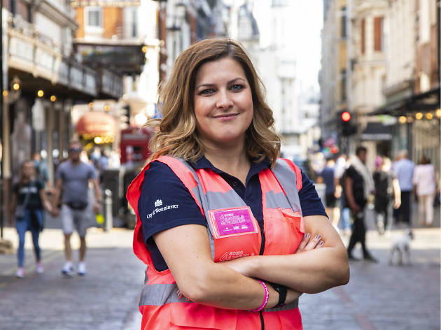 Ellie Compobassi, a volunteer for Soho Angels