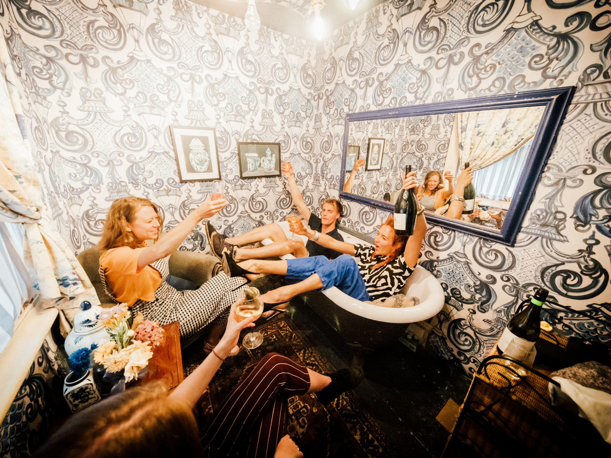 Get sloshed in the bath at this house party-themed bar in Waterloo