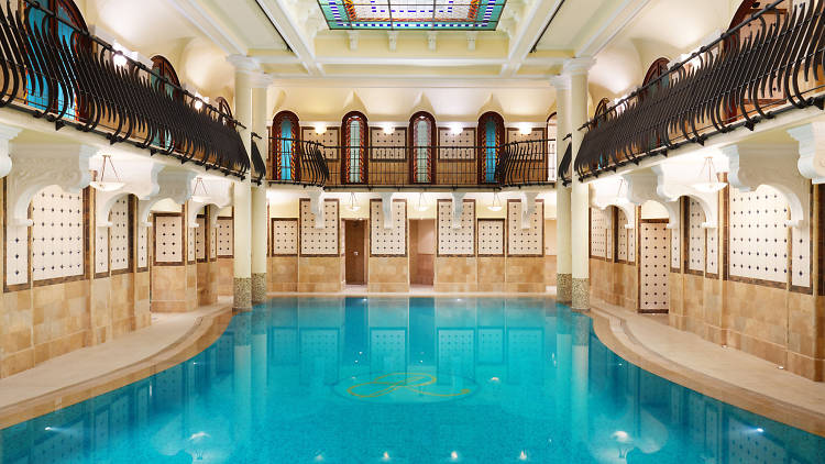 The pool at Corinthia Hotel in Budapest