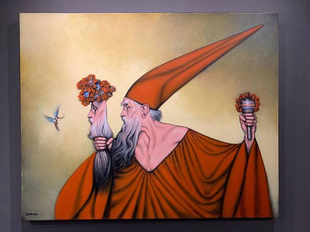 Exposicion del pintor mexicano Rafael Coronel en San Miguel de Allende