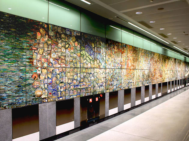 Singapore Tapestry by Delia Prvacki, Artwork Commissioned by LTA under the Art In Transit Programme
