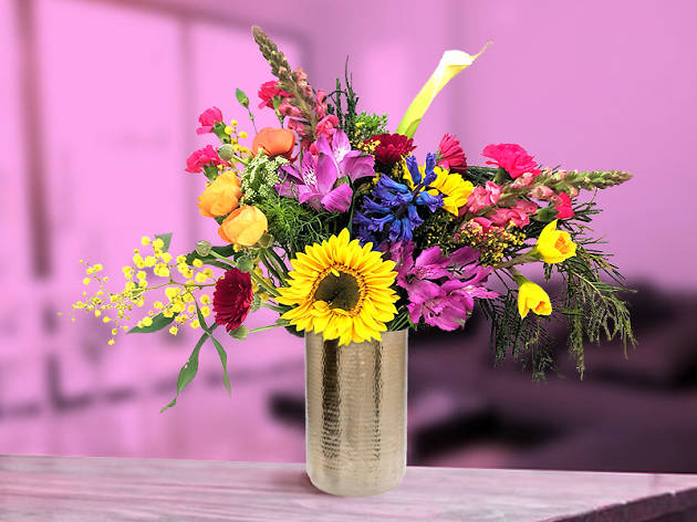 A colourful bouquet from Dope Florals