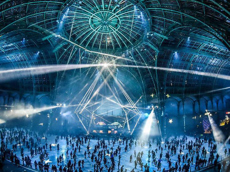 La plus grande patinoire intérieure éphémère du monde